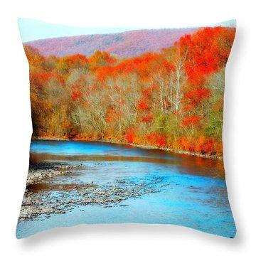 Coloring The Kittatinny Throw Pillow