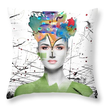 Colorist Throw Pillow by Nola Lee Kelsey