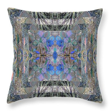 Colorized Aspen Kaleidoscope Throw Pillow
