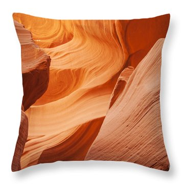 Colors Abound In The Canyon Throw Pillow
