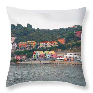 Colors Along The Coast Throw Pillow