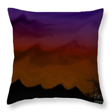 Colors At Dusk Throw Pillow