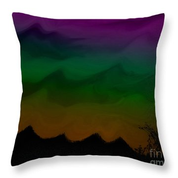 Colors At Dusk2 Throw Pillow