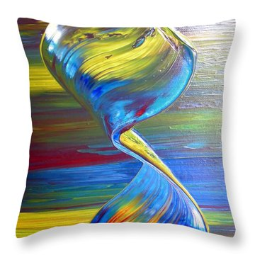 Colors By Nico Bielow Throw Pillow