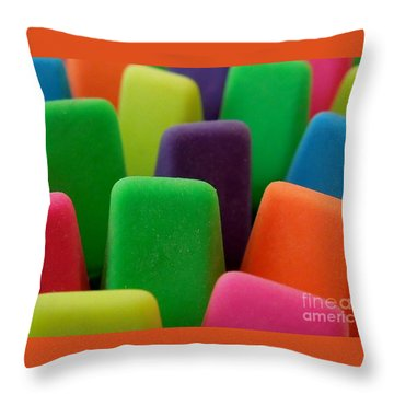 Colors Throw Pillow by Chad and Stacey Hall