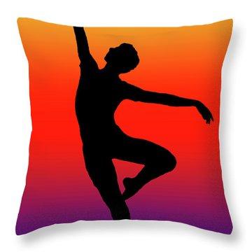 Colors Dance Throw Pillow