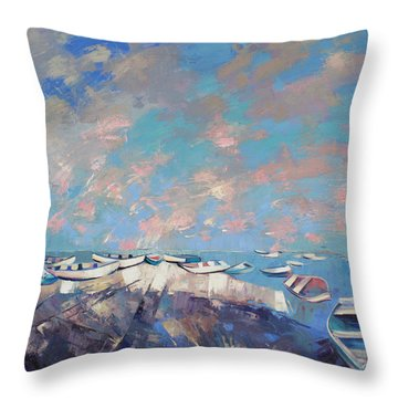 Colors Flamingo Throw Pillow