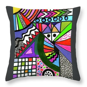 Colors Gone Wild Throw Pillow