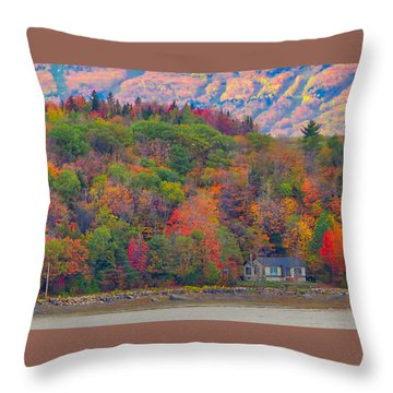 Colors In Canada Throw Pillow