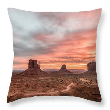Colors In Monument Throw Pillow