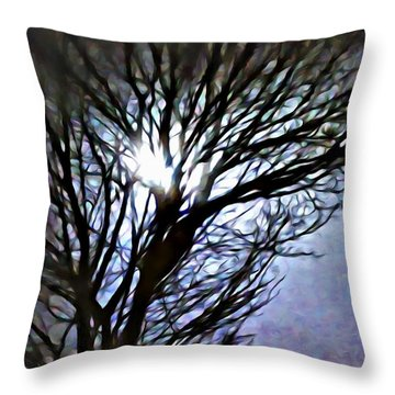 Colors In The Fog Throw Pillow