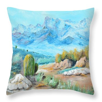 Colors In The High Desert Throw Pillow