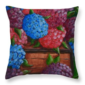 Colors Throw Pillow by Melvin Turner
