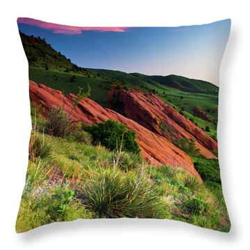 Throw Pillow featuring the photograph Colors Of A Colorado Spring Sunrise by John De Bord