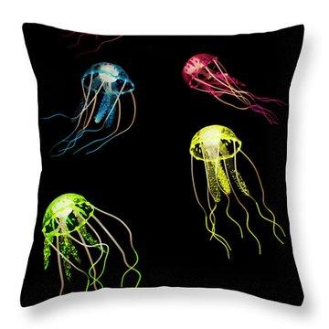 Colors Of Aquatic Life Throw Pillow