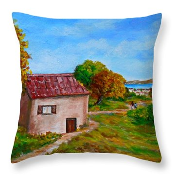 Colors Of Autumn1 Throw Pillow by Constantinos Charalampopoulos