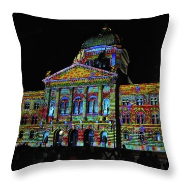 Colors Of Bern Throw Pillow