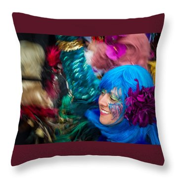 Colors Of Carnival Throw Pillow