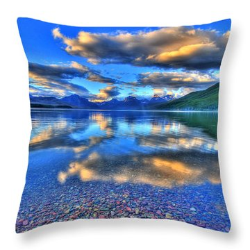 Colors Of Clouds Throw Pillow by Scott Mahon
