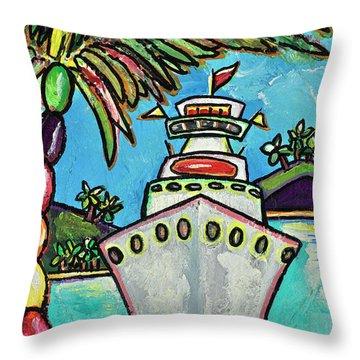 Colors Of Cruising Throw Pillow