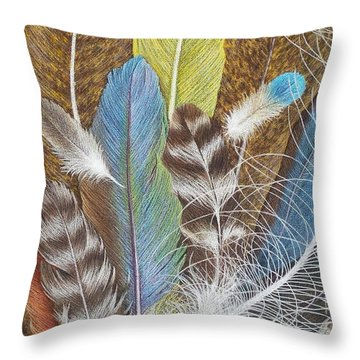 Colors Of Flight Throw Pillow