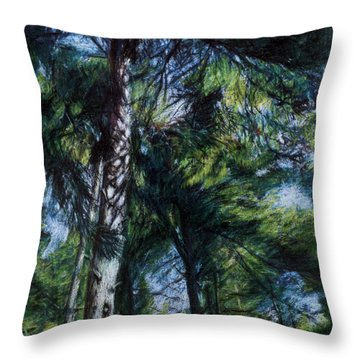 Colors Of Green Throw Pillow