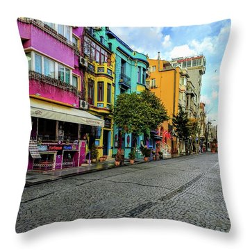 Colors Of Istanbul Throw Pillow