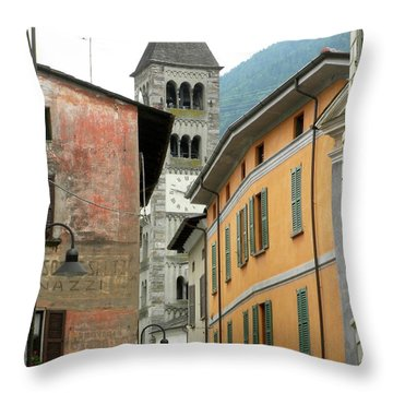Colors Of Italy Throw Pillow by Teresa Tilley