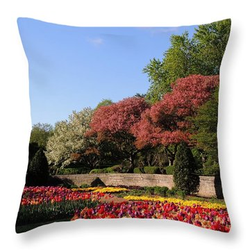 Colors Of May Throw Pillow