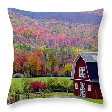Colors Of New England Throw Pillow by Rick  Monyahan