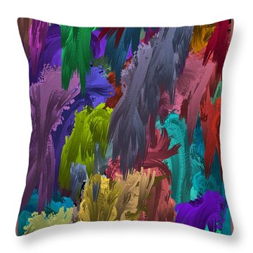 Colors Of Palette Water Colors Throw Pillow