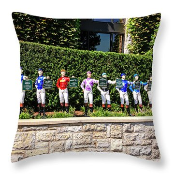 Colors Of Past Stakes At Keeneland Ky Throw Pillow