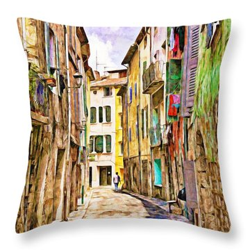Colors Of Provence, France Throw Pillow