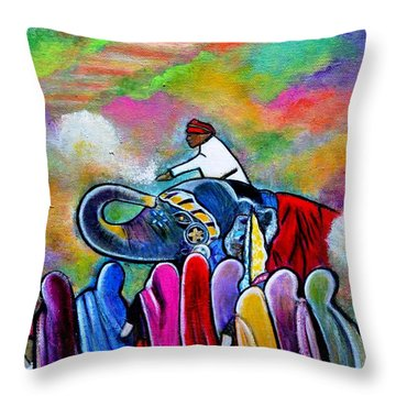 Colors Of Rajasthan Throw Pillow