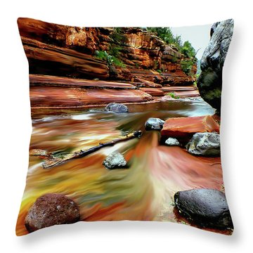 Colors Of Sedona Throw Pillow
