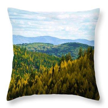 Colors Of Sherman's Pass Throw Pillow
