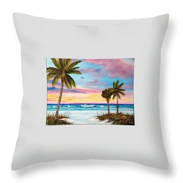 Colors Of Siesta Key Throw Pillow