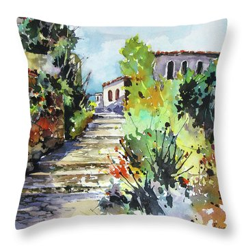 Colors Of Spain Throw Pillow