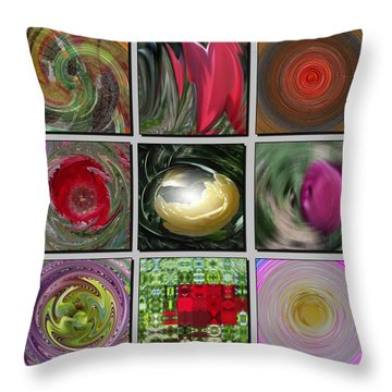 Colors Of Spring Throw Pillow by David and Lynn Keller