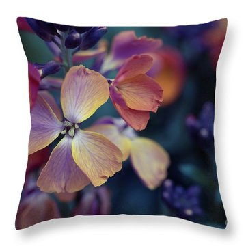 Colors Of Spring Throw Pillow by Eva Lechner