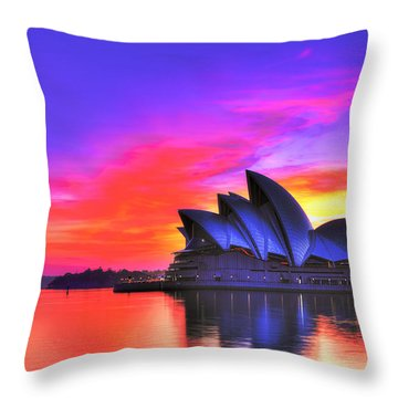 Colors Of Sydney Throw Pillow