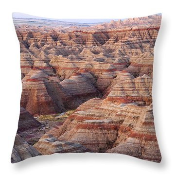 Colors Of The Badlands Throw Pillow by Monte Stevens
