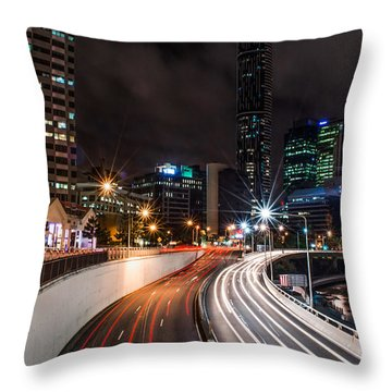 Colors Of The City Throw Pillow by Parker Cunningham
