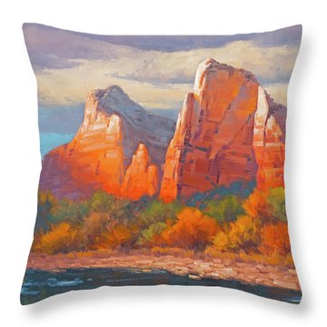 Colors Of The Court Throw Pillow