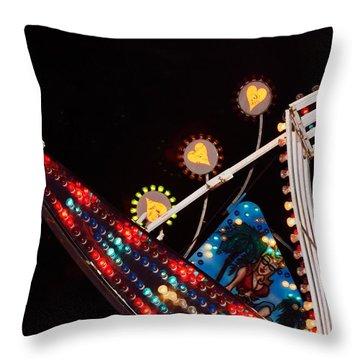 Colors Of The Fair 4 Throw Pillow by Kae Cheatham