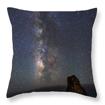Throw Pillow featuring the photograph Colors Of The Night by Alex Lapidus