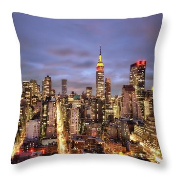 Colors Of The Night Throw Pillow by Evelina Kremsdorf