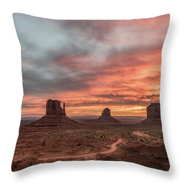 Colors Of The Past Throw Pillow