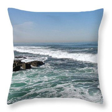 Throw Pillow featuring the photograph Colors Of The Sea by Carol  Bradley