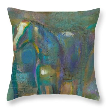 Throw Pillow featuring the painting Colors Of The Southwest by Frances Marino